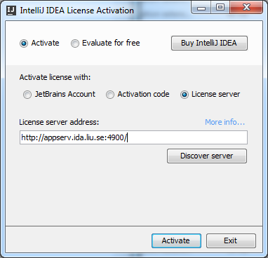 license server intellij