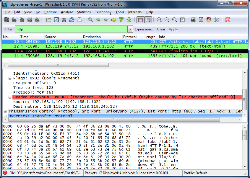 Figure 2 Wireshark Display After Http Gaia Cs Umass Edu Wireshark Labs Httpwireshark File1 Html Has Been Retrieved By Your Browser
