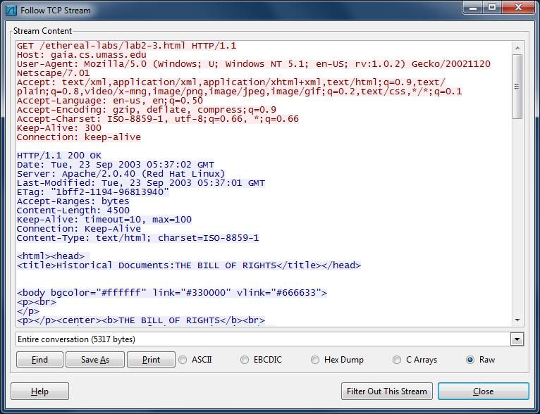 Wireshark Lab: HTTP