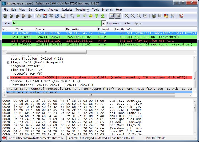 Wireshark Lab HTTP